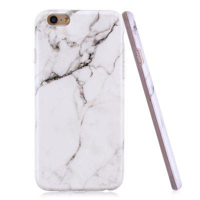 Luxury Marble Stone Pattern Slim Fit Soft Tpu Mobile Phone Case Cover Coque for iPhone 6/6S - White Marble kavaro swarovski rose gold plated pc hard case for iphone 6s 6 mandala pattern