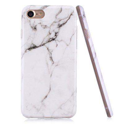 Luxury Marble Stone Pattern Slim Fit Soft Tpu Mobile Phone Case Cover Coque for iPhon 7 - White Marble