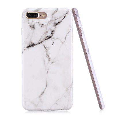 Luxury Marble Stone Pattern Slim Fit Soft Tpu Mobile Phone Case Cover Coque for iPhon 7 Plus - White Marble