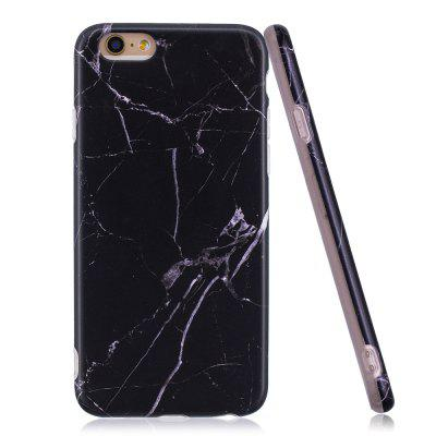 Luxury Marble Stone Pattern Slim Fit Soft Tpu Mobile Phone Case Cover Coque for iPhone 6/6S - Black multi purpose 8gb micro sd tf card momery expansion pc tpu phone case for iphone 6s 6 black