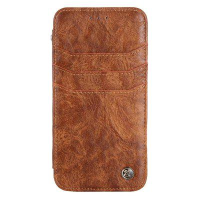 For iphone7 / 8 Vintage Wallet Genuine Leather Case Flip Book Phone Bag Cover with Card Holder 2017 new men male wallet vintage genuine leather brown mobile phone waist bag pockets pouch purse for travel out door holder