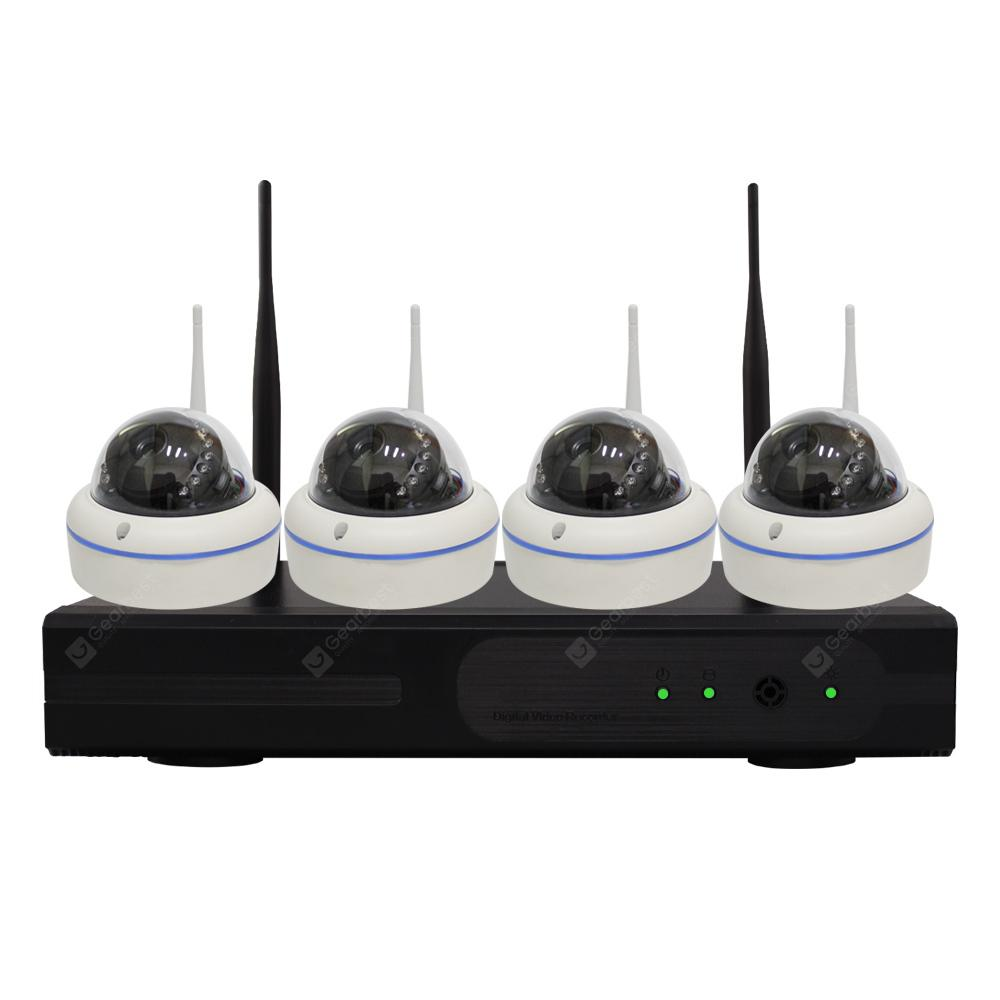 8984P1120 4CH Wireless NVR Kit 1080P Dome IP Camera Waterproof Security System