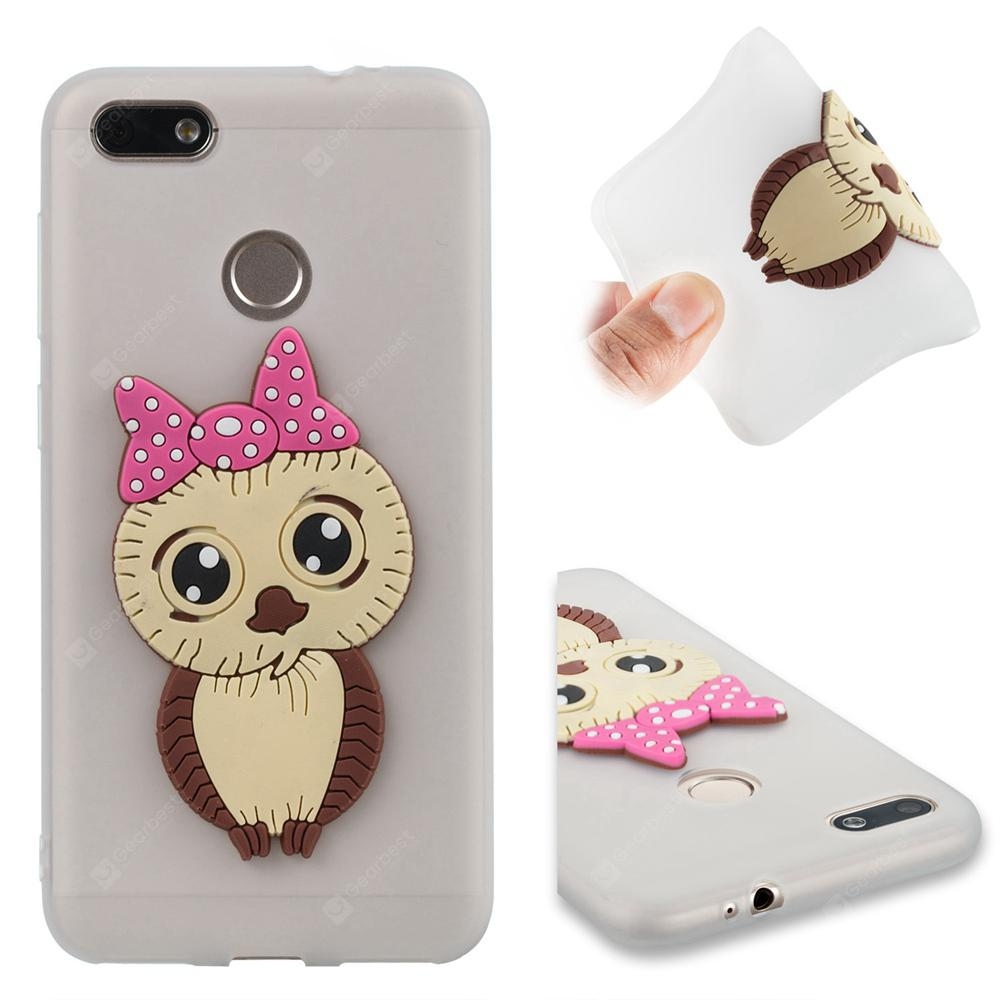 Case for Huawei Enjoy 7 Owl Soft Shell