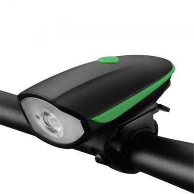Multifunction Waterproof Bike Head Light LED USB Charging Flashlight with Bell Speaker Bicycle Accessories