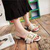 All-match Coarse Toe Buckle A Cool Slippers - BEIGE