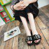 All-match Coarse Toe Buckle A Cool Slippers - BLACK