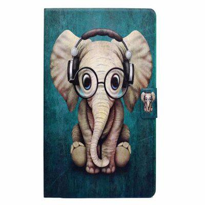 Case for Samsung Galaxy Tab A 8.0 T380 Card Holder with Stand Flip Pattern Full Body Elephant Hard PU Leather