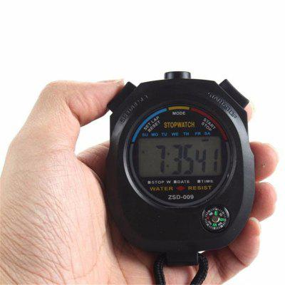 Digital Stopwatch Cronograf Sport Counter Timer Odometer Watch