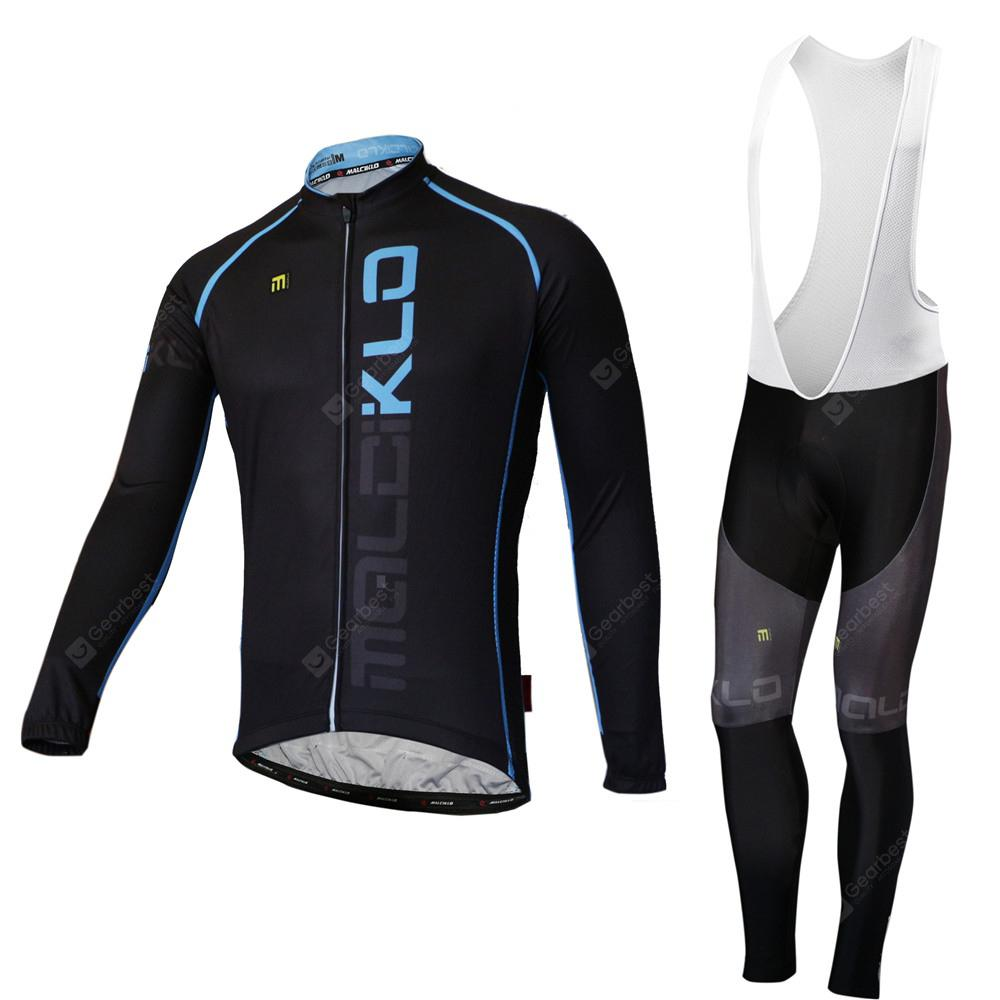 Malciklo Spring Season Cycling Sportswear Tights Long Sleeve Suits for Men