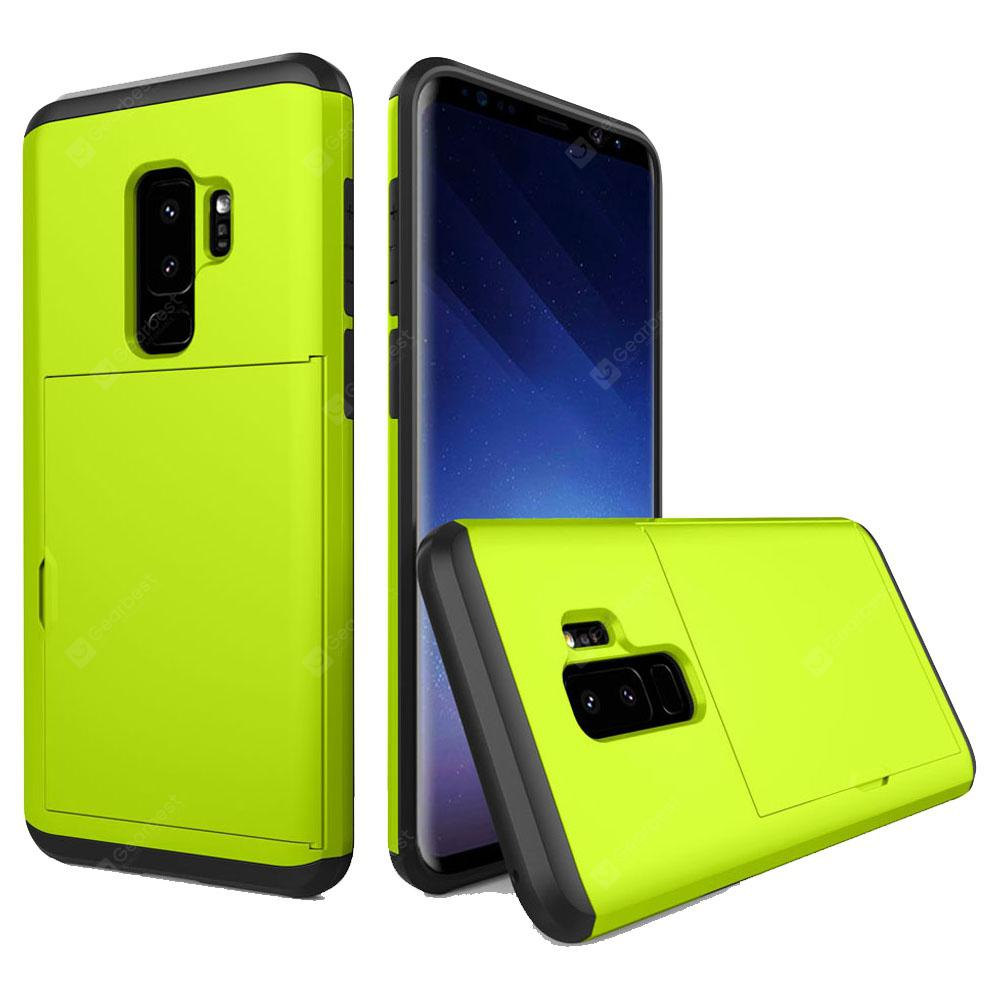 Armor Case for Samsung Galaxy S9 Plus Card Holder Shockproof Bumper Cover