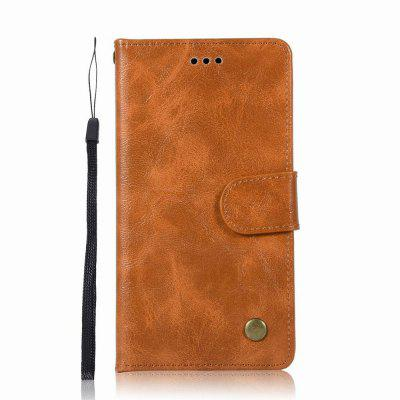 Leather Flip Wallet Case for Lenovo P1M Holer Phone Shell with Lanyard