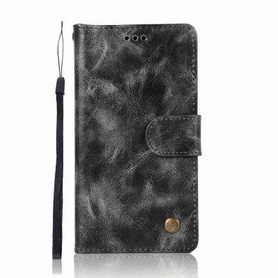 Leather Flip Wallet Case for Lenovo A6000 Holer Phone Shell with Lanyard