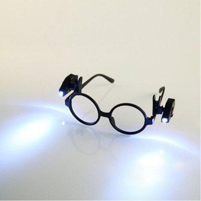 BRELONG 2PCS Universal LED Clip On Leitura Light Night Lamp para EyeGlasses Camping Reader (Óculos NÃO incluídos)