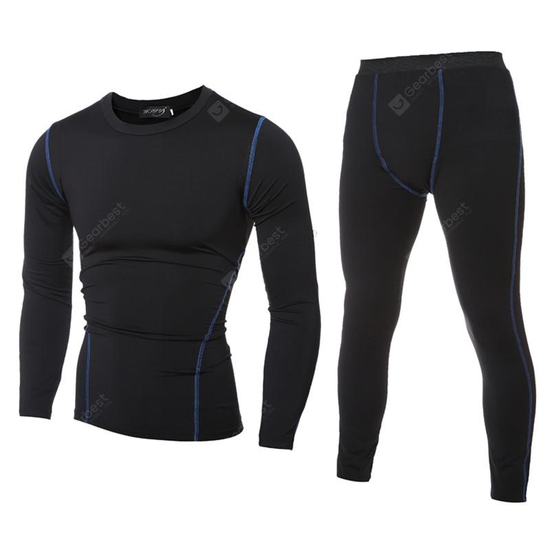 2018 New Sports Suit Long Sleeve Quick Dry Men's Tights Running Suits