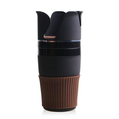 Multifunctional  Car  Storage Cup  Rotatable Holder Auto Multi-cup Case Box