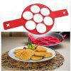 7-HOLE Silicone Frying Pan Pancake Egg Molds Belt Baking Tools - LOVE RED