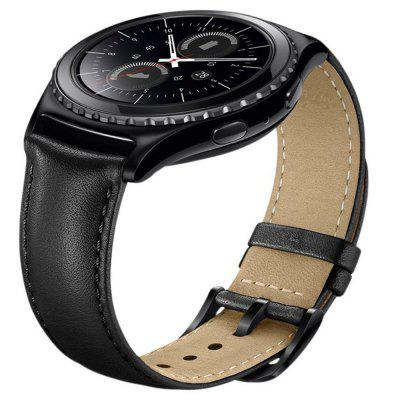 Fashion Leather Strap for Samsung Gear S2 22MM Bracelet with Bracelet soft leather smooth black brown watchband with folding buckle 22mm watch accessories bands for brand fashion hours men strap new