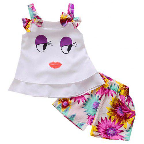 9fe611a2 Baby Girl's Shorts Set 2pcs Cartoon Pattern Tank Top and Clothes | Gearbest