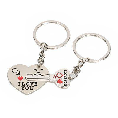 Heart Shaped Valentine Day Keychain Favors Wedding Souvenirs Men and Women Key Ring Gifts