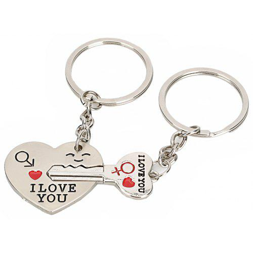 Heart Shaped Valentine Day Keychain Favors Wedding Souvenirs Men and Women  Key Ring Gifts dbe3c96bcd
