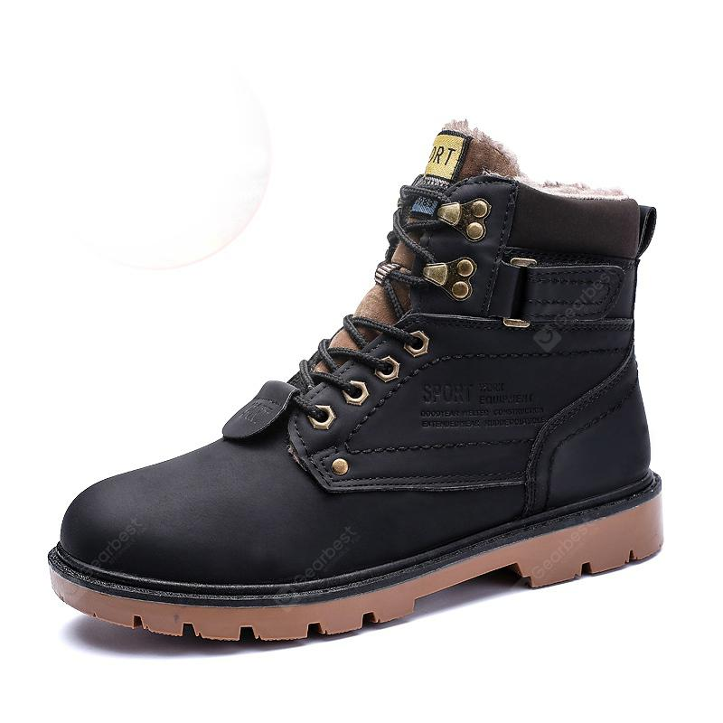 ZEACAVA Outdoor Waterproof Rubber Leisure Suede Leather Man Martin Boots