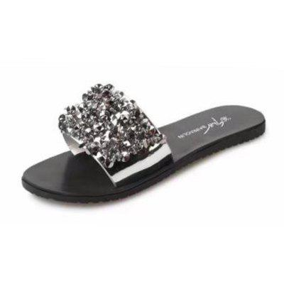 New Flat Fashion Comfortable Diamond Word Cool Slippers
