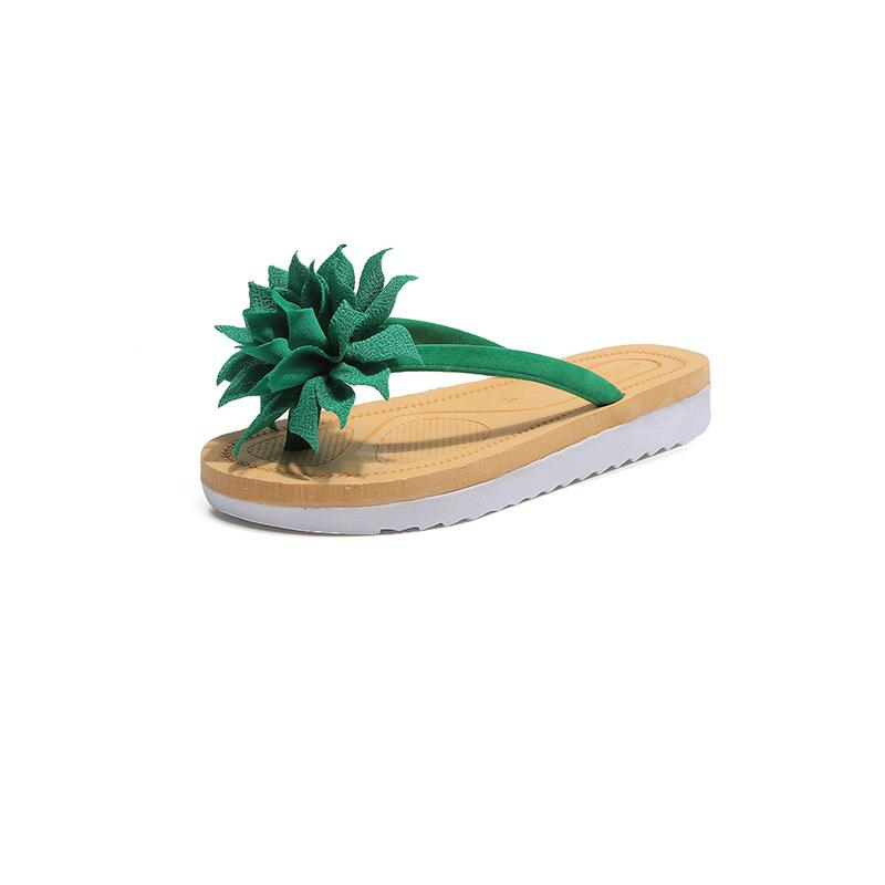 Flowers Slip All-match Beach Shoes Sandals