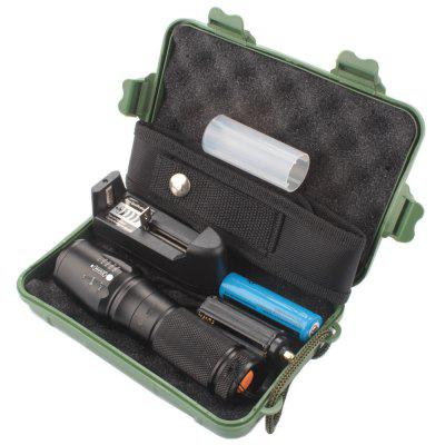Anti-slid Ultra-bright CREE XML T6 LED Flashlight Kit