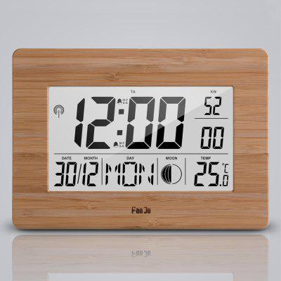 FanJu FJ3530 Big Screen Digital Alarm Clock with Dual Alarm, Indoor Temperature, Moon Phase, Calendar