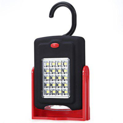 Portable 23 LED Work Light Lamp Flashlights with Magnet and Standing Rotating Hanging Hook for Outdoor
