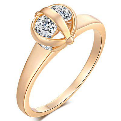 Lovely  Three Rolling Zircon Rings J0026