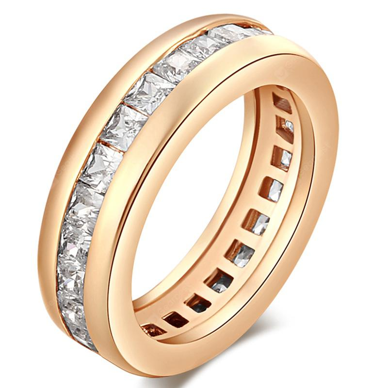 Zircon Circle Hollowness Simple Ring J0031