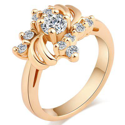 Fashion Micro-set with Rich and Beautiful Zircon Ring J0421