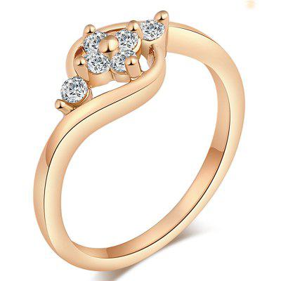 Fashionable Micro-inlaid and Maladjusted Zircon Ring J0426