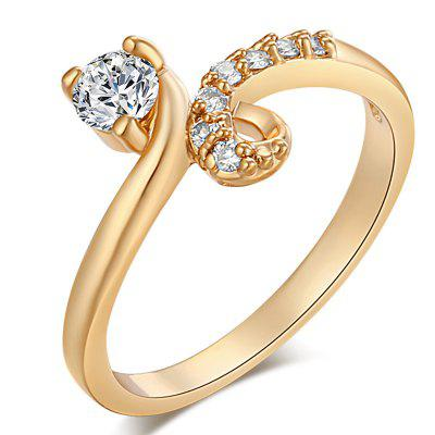 Fashionable Micro-set Lovely and Delicate Zircon Ring J0480