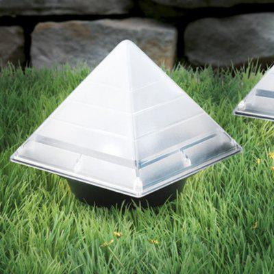 BRELONG Sensor Solar Ground Lights Pyramid Shaped Underground Buried Light Outdoor Garden Lawn Path Lamp 1PC
