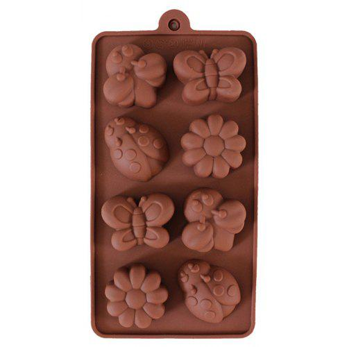 4pcs Creative Gear Shape Silicone Molds for DIY 3D Chocolate Cake Jewelry Sh