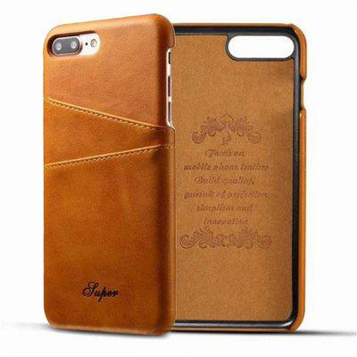 For iPhone 8 Plus/7 Plus Creative Leather Card Holder Back Phone Case Cover