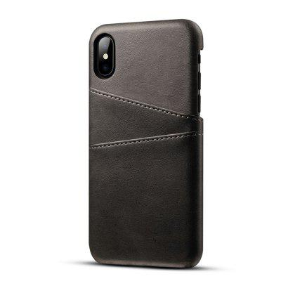 PU Leather Case for IPhone X Cover Protective Card Holder Wallet Mobile new luxury pu leather wallet business vintage credit card holder back cover case for iphone x s