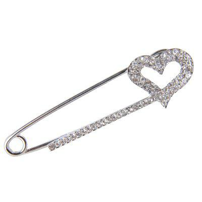 Heart Type Crystal Brooches for Women Wedding Party Clothes  Pins Jewelry Accessories