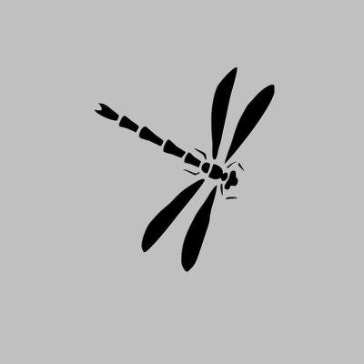DSU Dragonfly Silhouette Door Window Funny Stickers Toilet Vinyl Decals