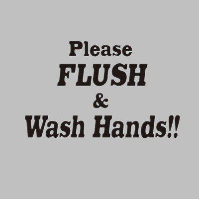 DSU FILSH & WASH HANDS Toilet Bathroom Funny Vinyl Stickers Home Decor