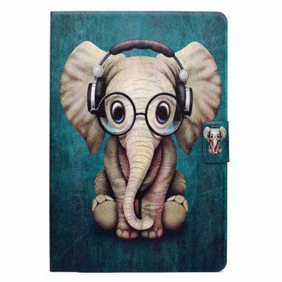 Custodia per iPad Mini 1/2/3/4 Titolare della carta con supporto Flip Pattern Full Body Elephant Hard PU Leather