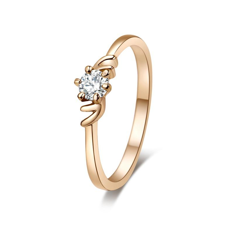 Simple Classic  Crown Ring J0304