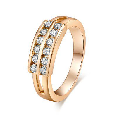 Fashion Micro-inlaid Low Zircon Ring J0335