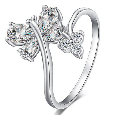 Butterfly Dragonfly Dislocation of Exquisite Zircon Ring J0345
