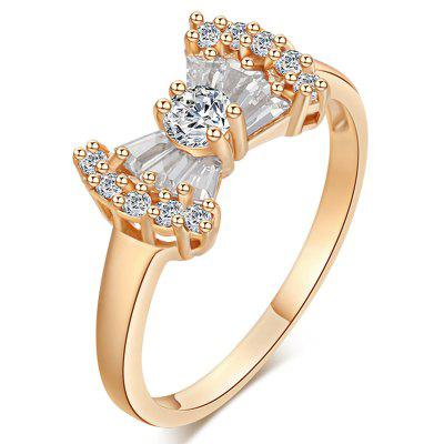 Fashion Micro-set Lovely Bow Zircon Ring J0355