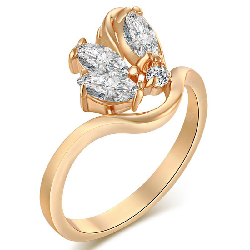 Lovely and Delicate Zircon Ring J0386