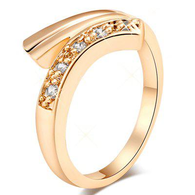 Micro-incrusté à la mode avec la luxueuse Malposition Zircon Ring J0517
