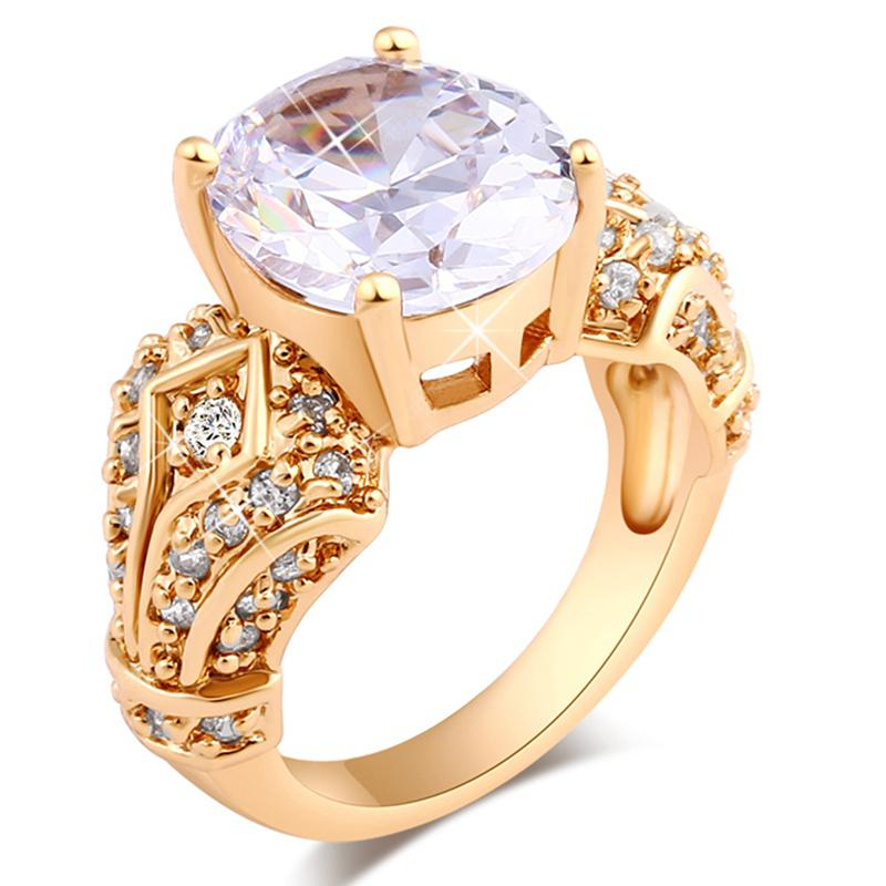 Fashion Micro-inlaid Luxury Classic Royal Zircon Ring J0582